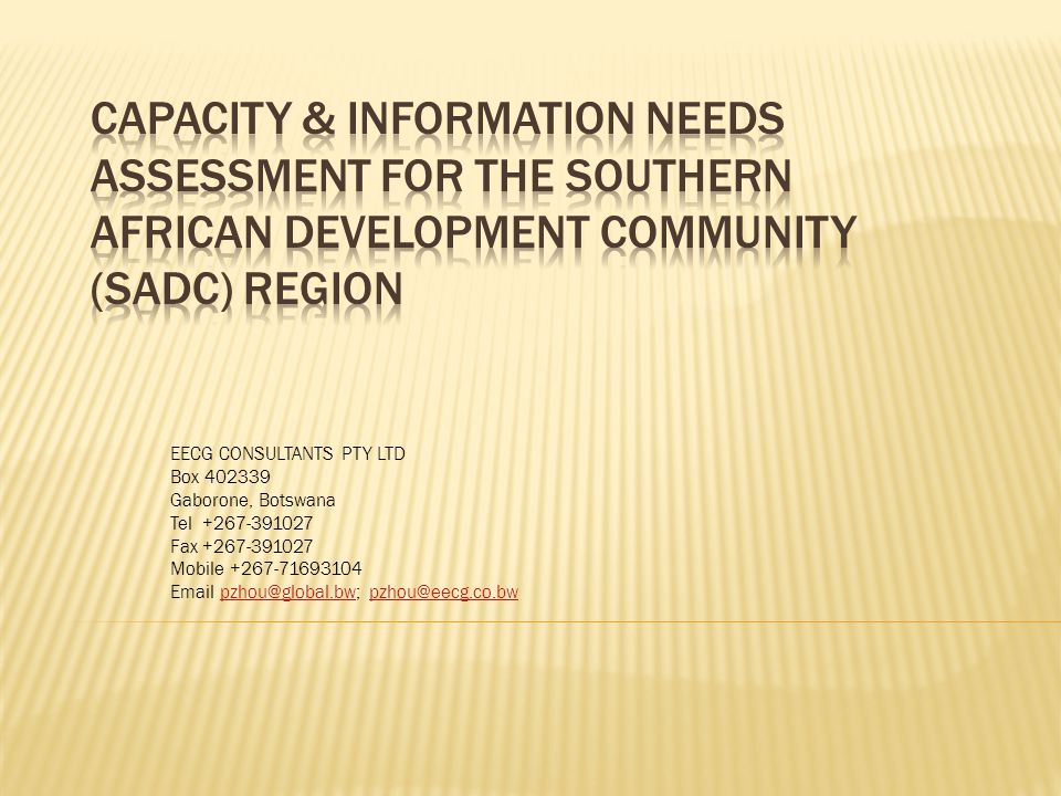 (4) GOVERNMENT DEPARTMENTS OF ENERGY, FIVE (5) NGOS AND ONE DEVELOPMENT AGENCY.