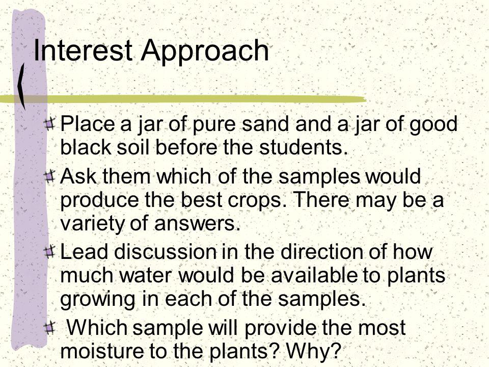 Learning Objectives Explain moisture holding capacity.