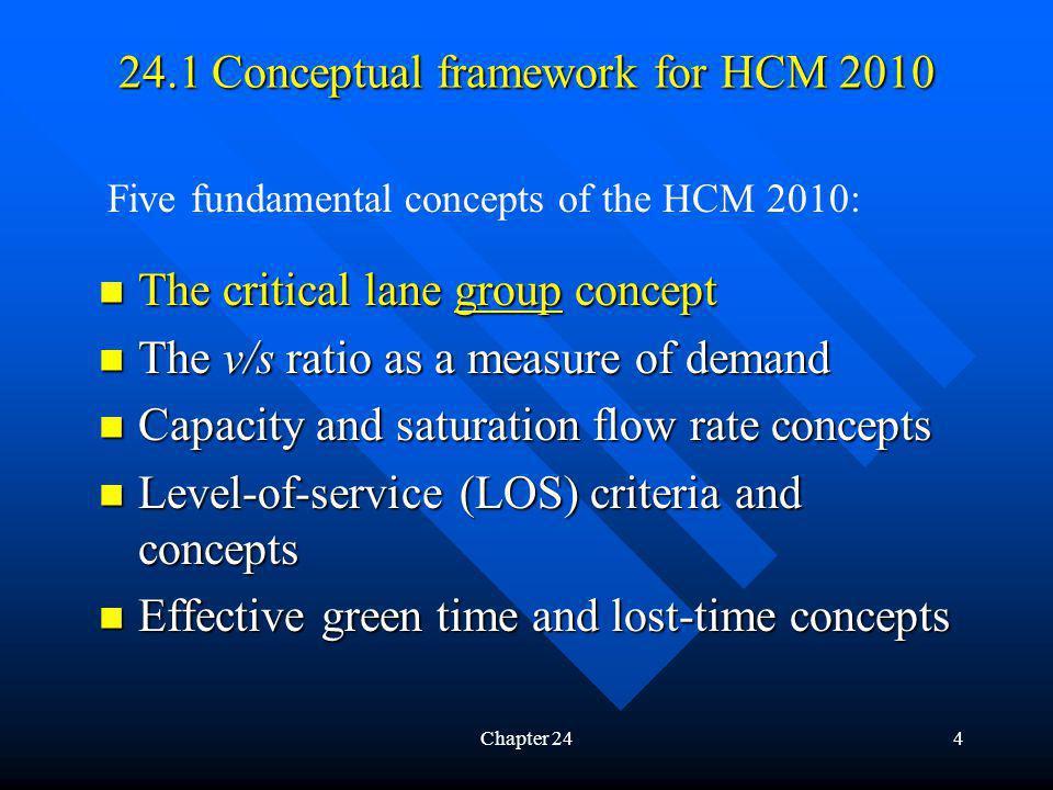 4 The critical lane group concept The critical lane group concept The v/s ratio as a measure of demand The v/s ratio as a measure of demand Capacity a