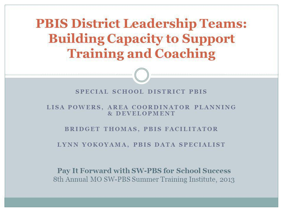 Post Organizer: Preview & Cue Use Invite your PBIS Consultant to support building capacity within your district.