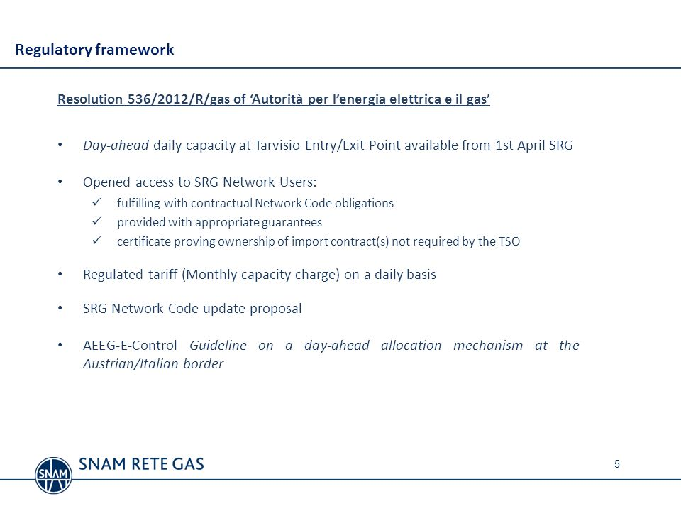 SRG network code -Updating proposal n.