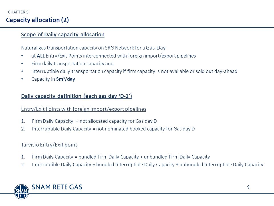 B U N D L E D TAG Available firm capacity for Gas day D Firm Daily Capacity offered by SRG Daily capacity determination at Tarvisio: example * SRG Available firm capacity for Gas day D N.B.