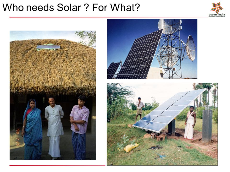 Who needs Solar ? For What?