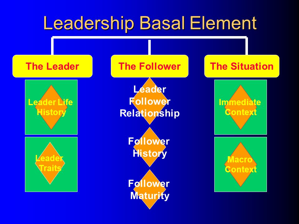 The Study of Leadership Leadership Basal Elements Leadership Values Leadership Influence WHATWHYHOW