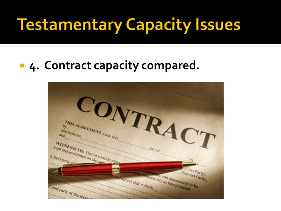 4. Contract capacity compared.