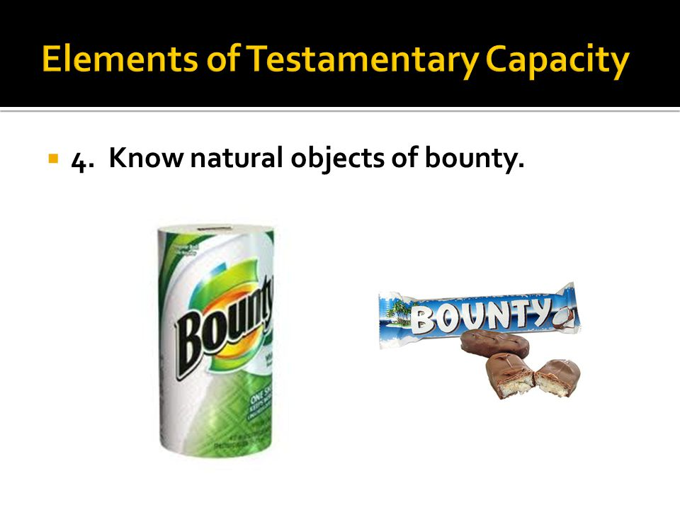 4. Know natural objects of bounty.