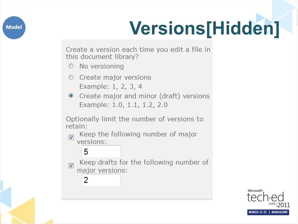Versions[Hidden] Model