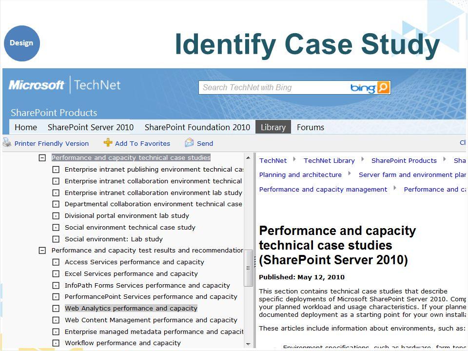 Identify Case Study Design