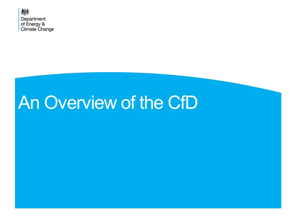 An Overview of the CfD