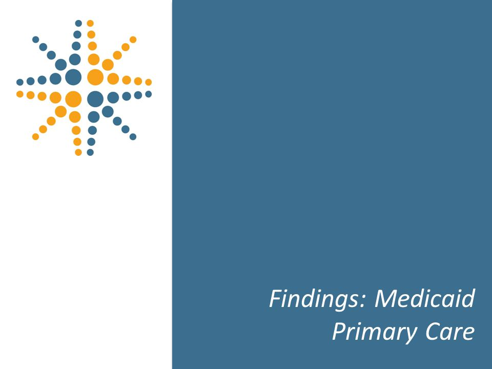 15 Findings: Medicaid Primary Care 15