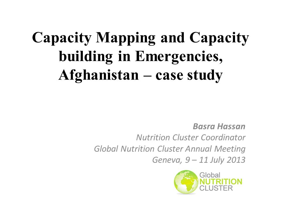 Lessons Learnt Capacity Mapping/Building is a key for success of cluster coordination and must be envisaged in the early stages of the cluster activation.
