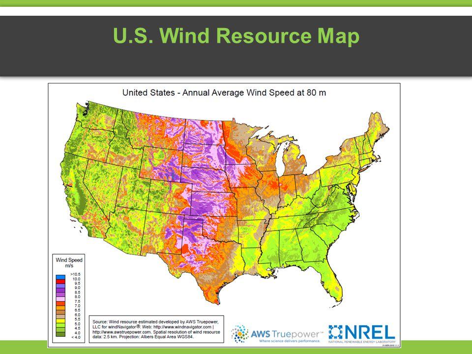 U.S. Wind Resource Map