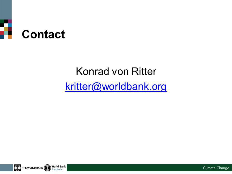 Contact Konrad von Ritter kritter@worldbank.org