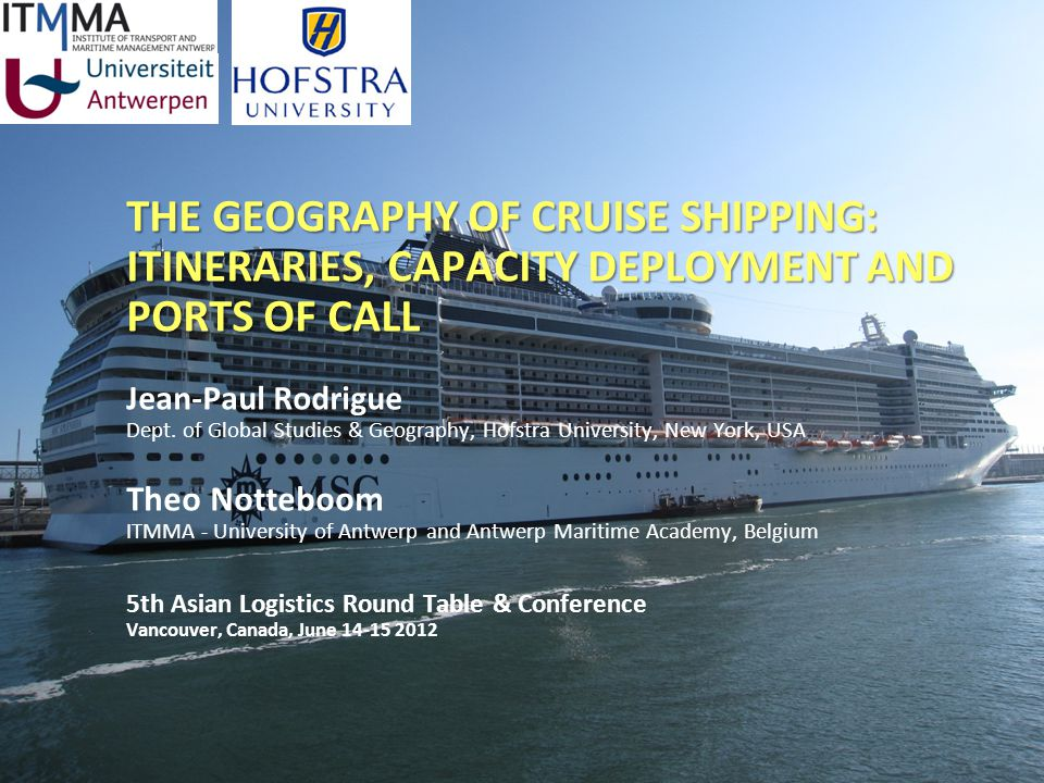 The Charthouse Group The Global Cruise Port System 70% A Supply-Based Industry