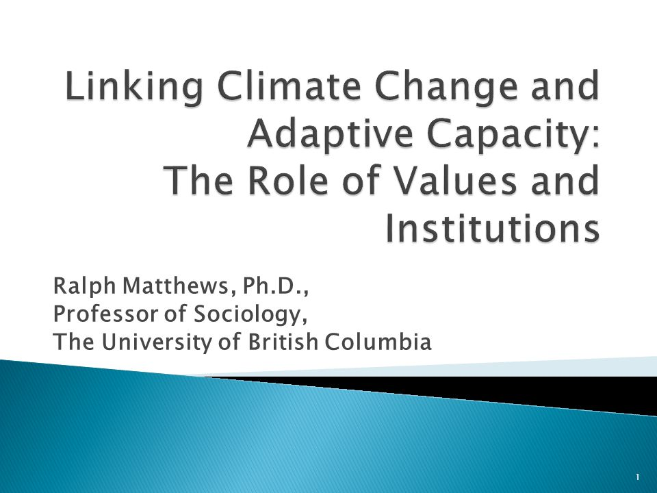 Ralph Matthews, Ph.D., Professor of Sociology, The University of British Columbia 1