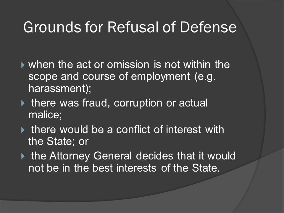 Four Methods for Providing Defense 1.Attorney Generals Office 2.