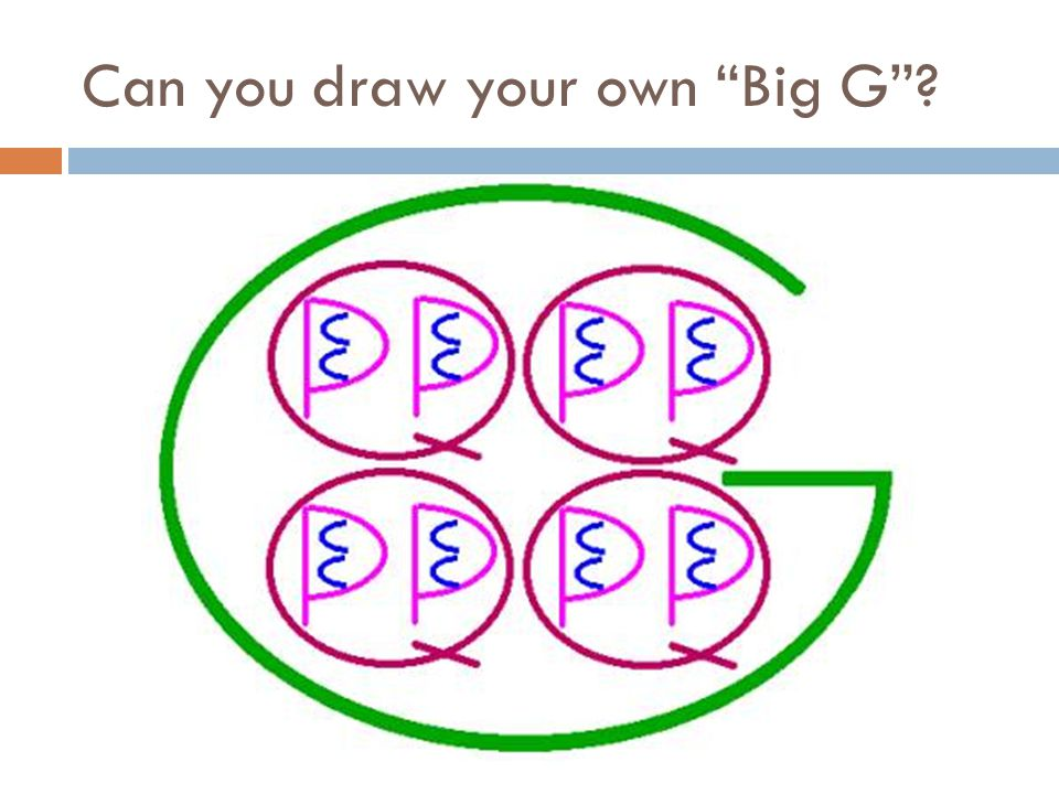 Can you draw your own Big G