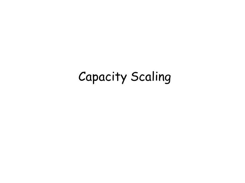 Capacity Scaling