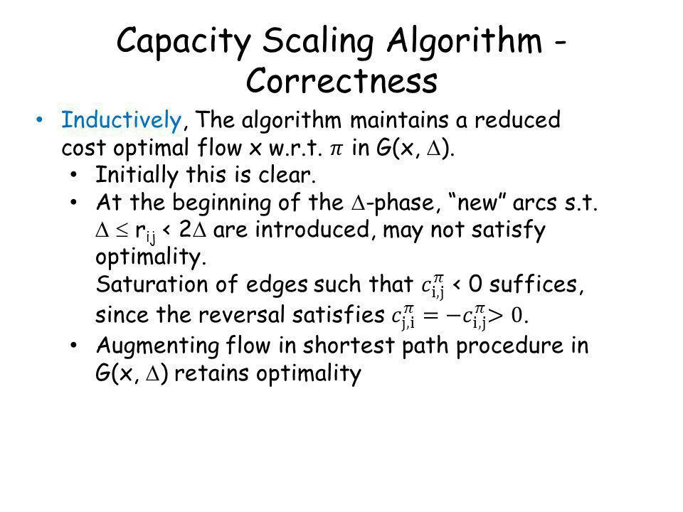 Capacity Scaling Algorithm - Correctness
