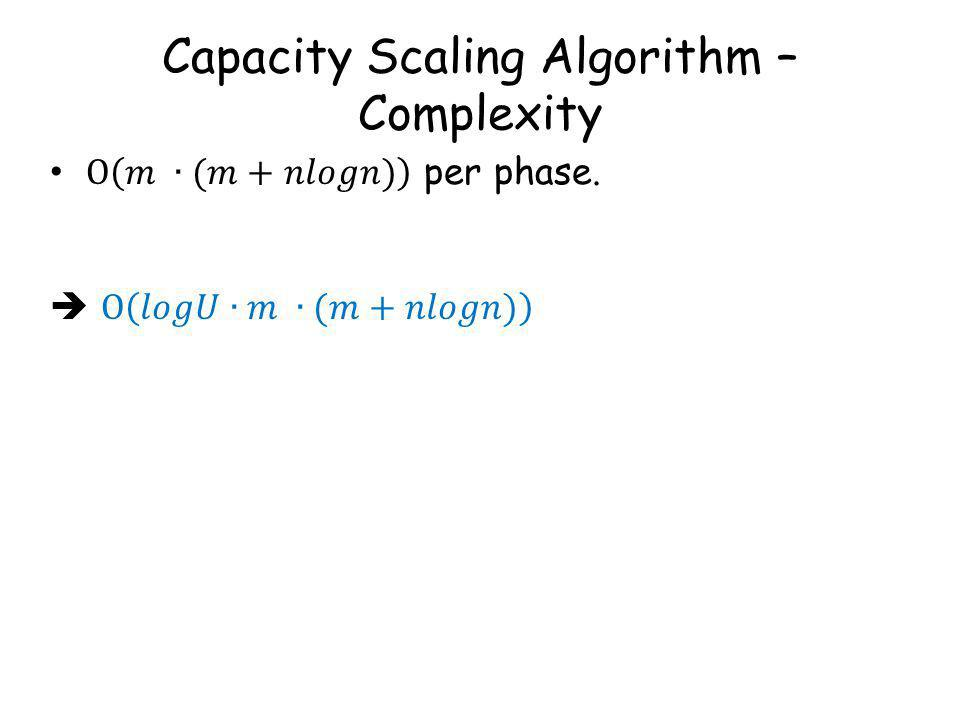 Capacity Scaling Algorithm – Complexity