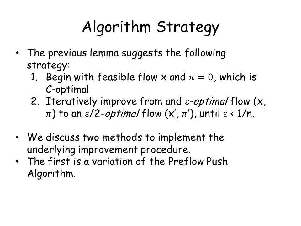 Algorithm Strategy