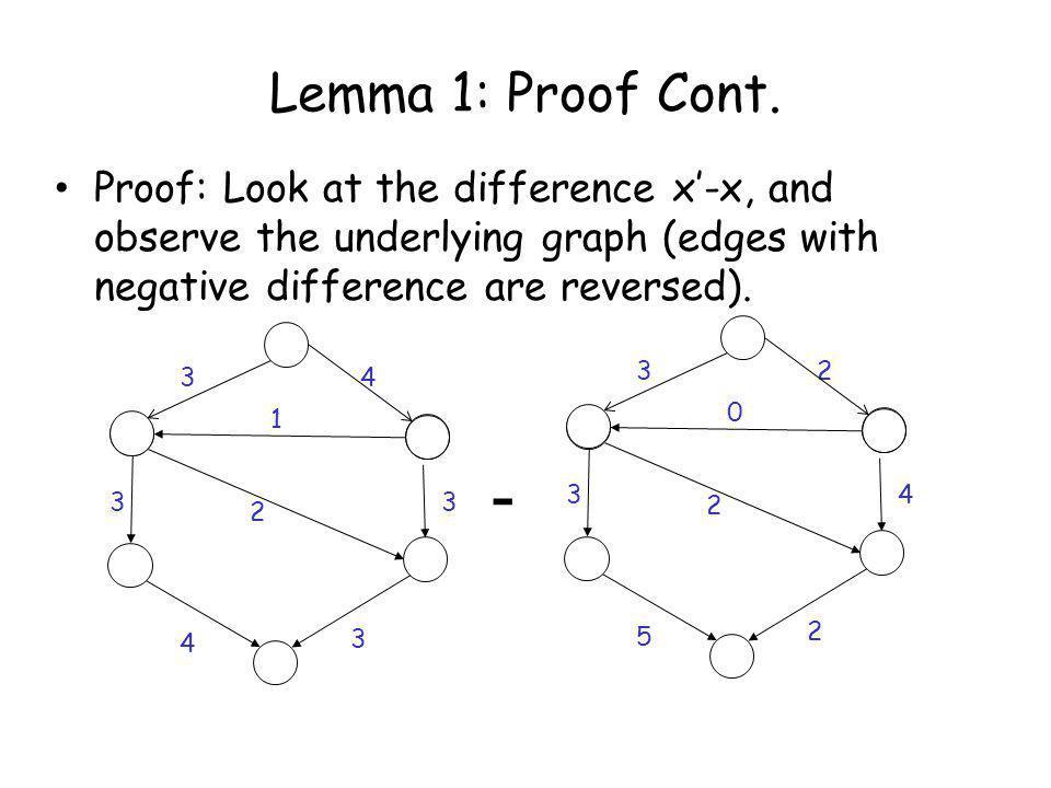 Lemma 1: Proof Cont.