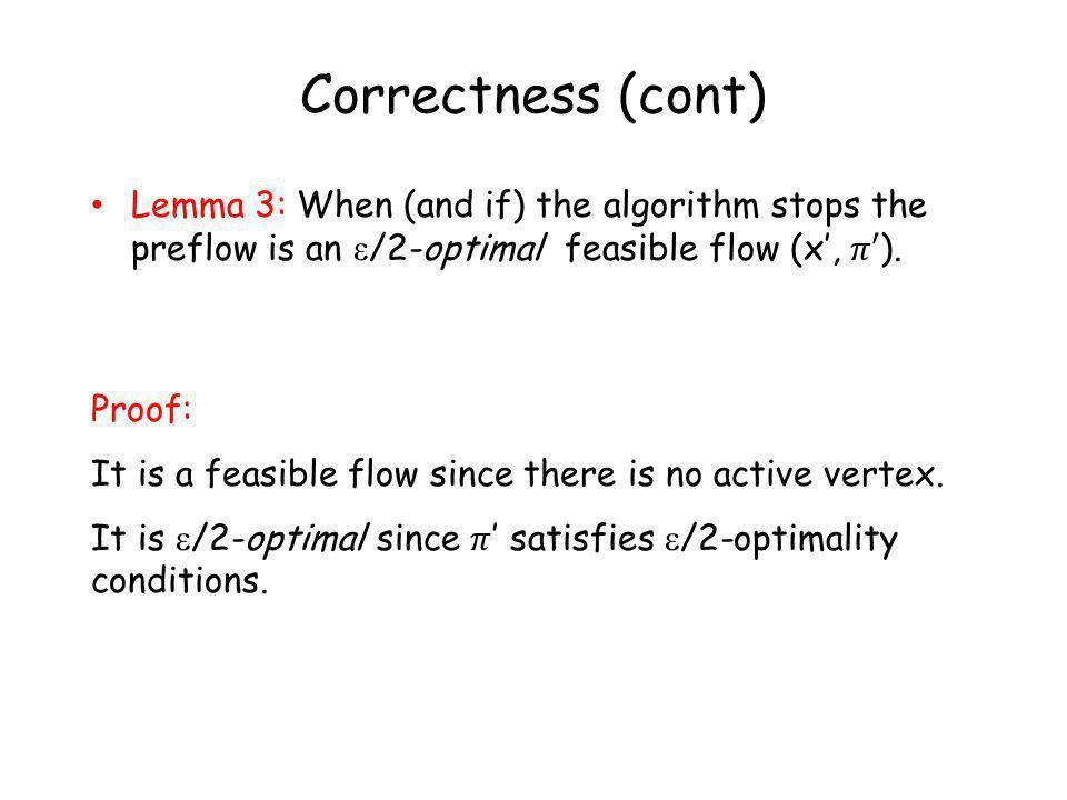Correctness (cont)