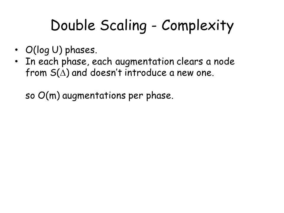 Double Scaling - Complexity O(log U) phases.