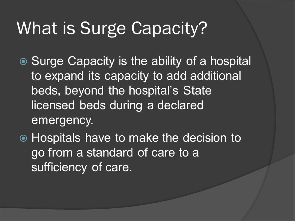 What is Surge Capacity.