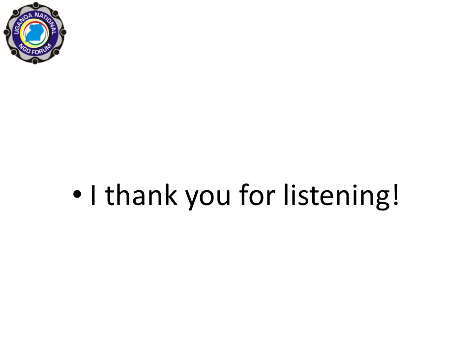 I thank you for listening!
