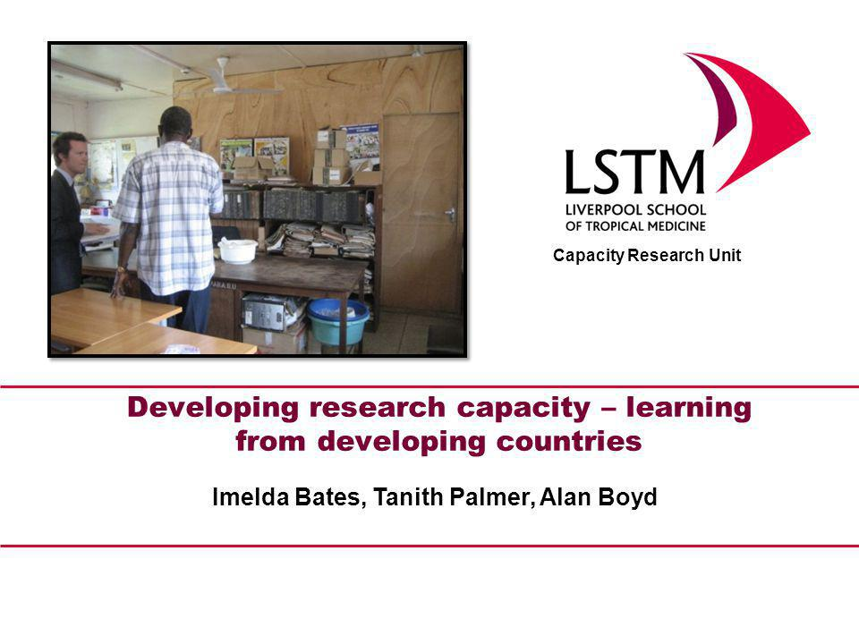 What does our Capacity Research Unit do.