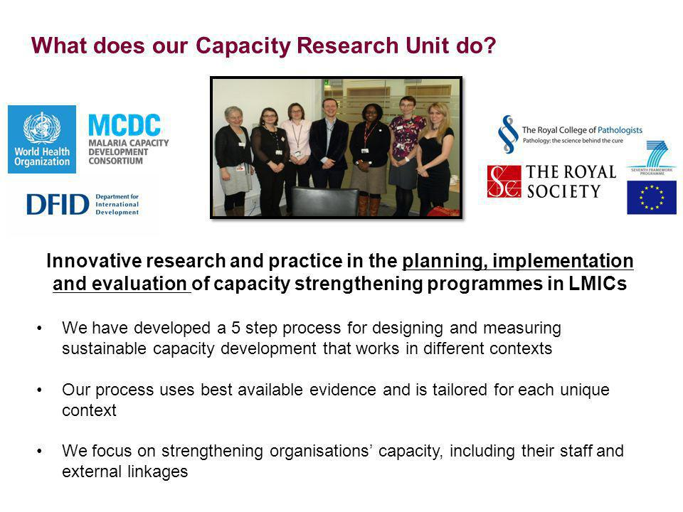Diploma in Project Design and Management - 2 Course participants are confident and competent to do basic research* Participants are from all hospital departments (e.g.