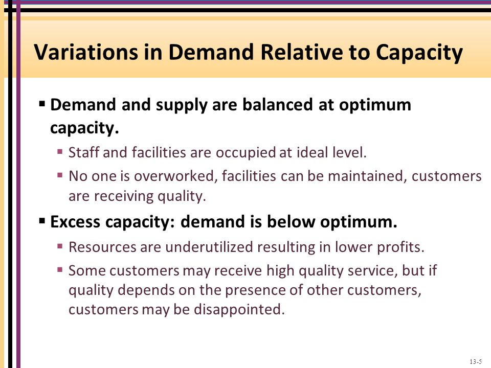Demand and Capacity for Service Providers 13-6