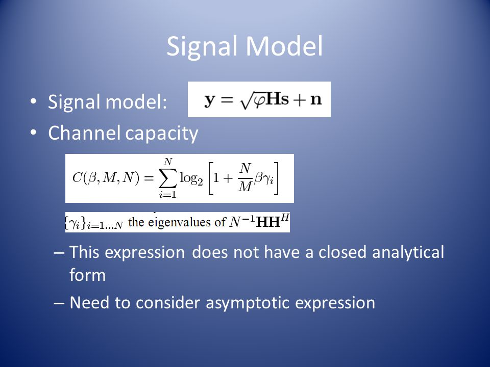 Analysis of Results Fig 5: Asymptotic capacity per antenna for Eb/N0=10dB.
