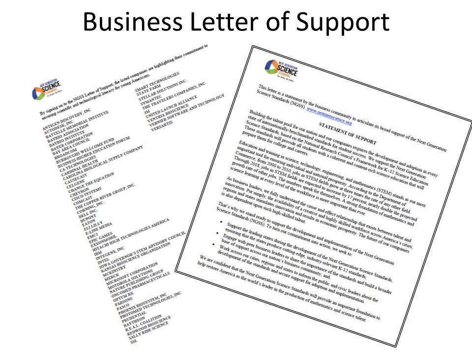 Business Letter of Support