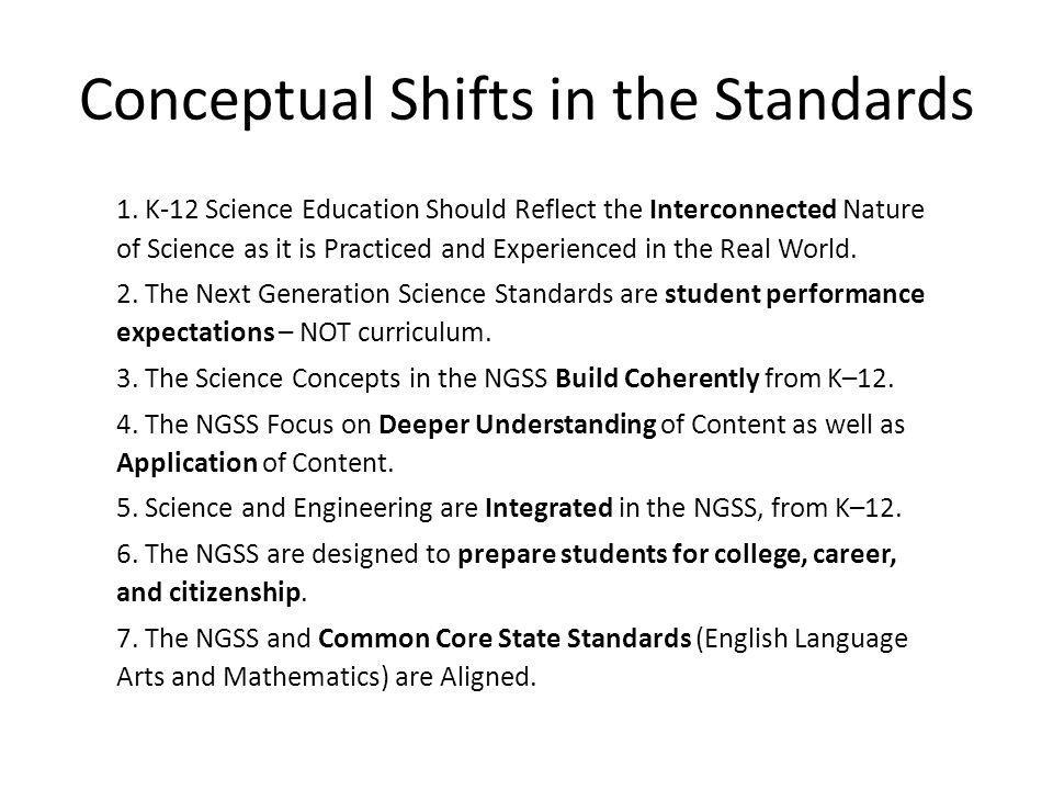 Conceptual Shifts in the Standards 1.