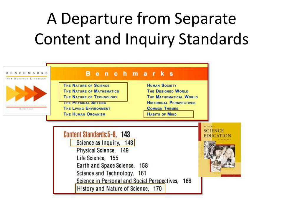 A Departure from Separate Content and Inquiry Standards