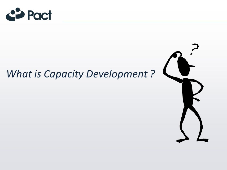What is Capacity Development