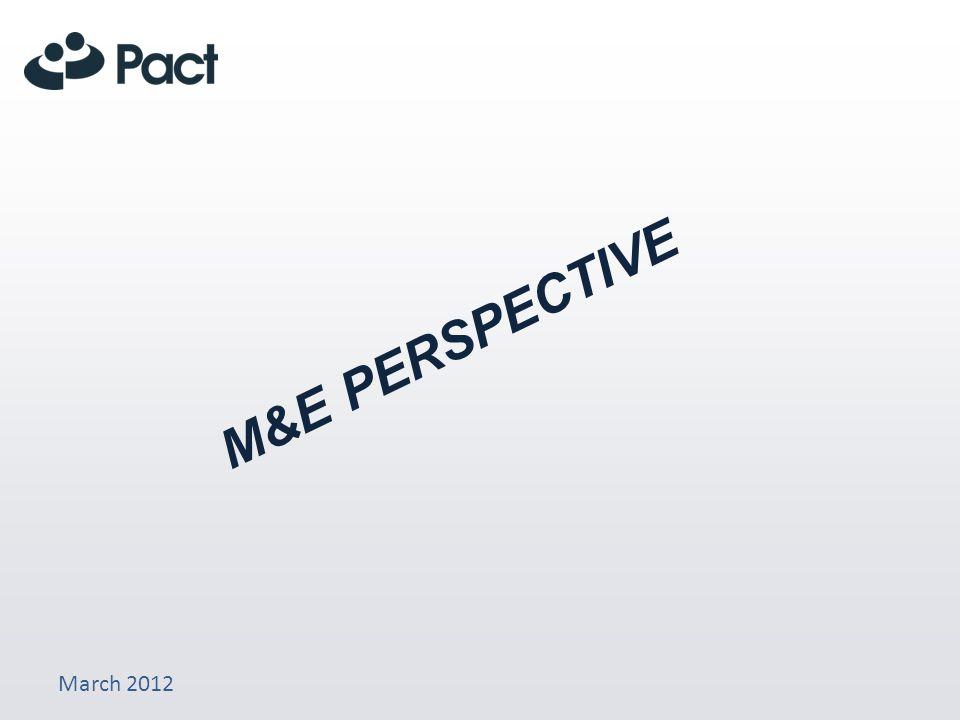 March 2012 M&E PERSPECTIVE