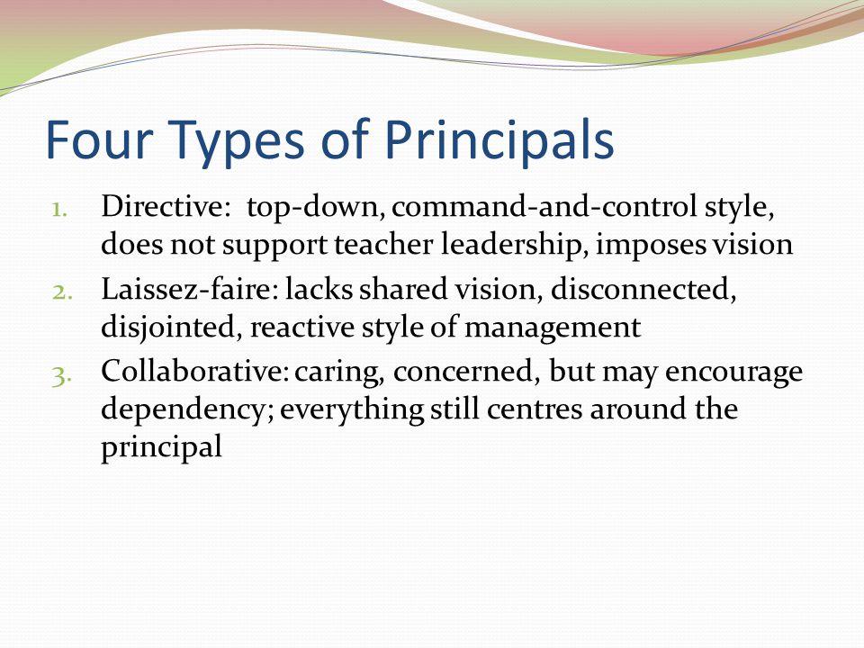 Four Types of Principals 1.