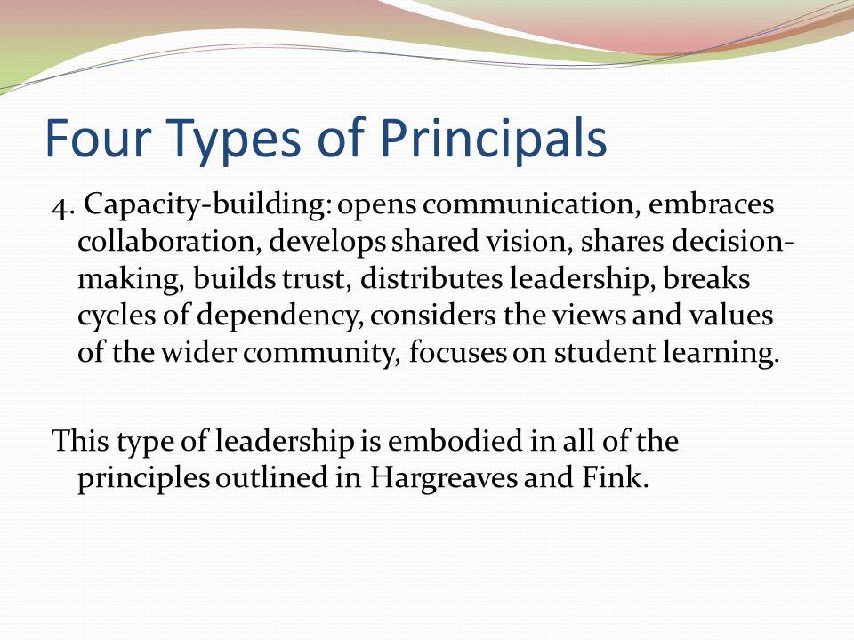 Four Types of Principals 4.