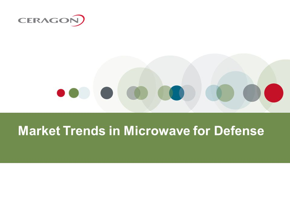 Proprietary and Confidential Main microwave requirements for defense applications 7 Reliability from a network that can withstand harsh environments Availability and network robustness Low latency for Network Enabled Capabilities Secure links and encryption Portable/compact solutions High power ODU Scalability and flexibility
