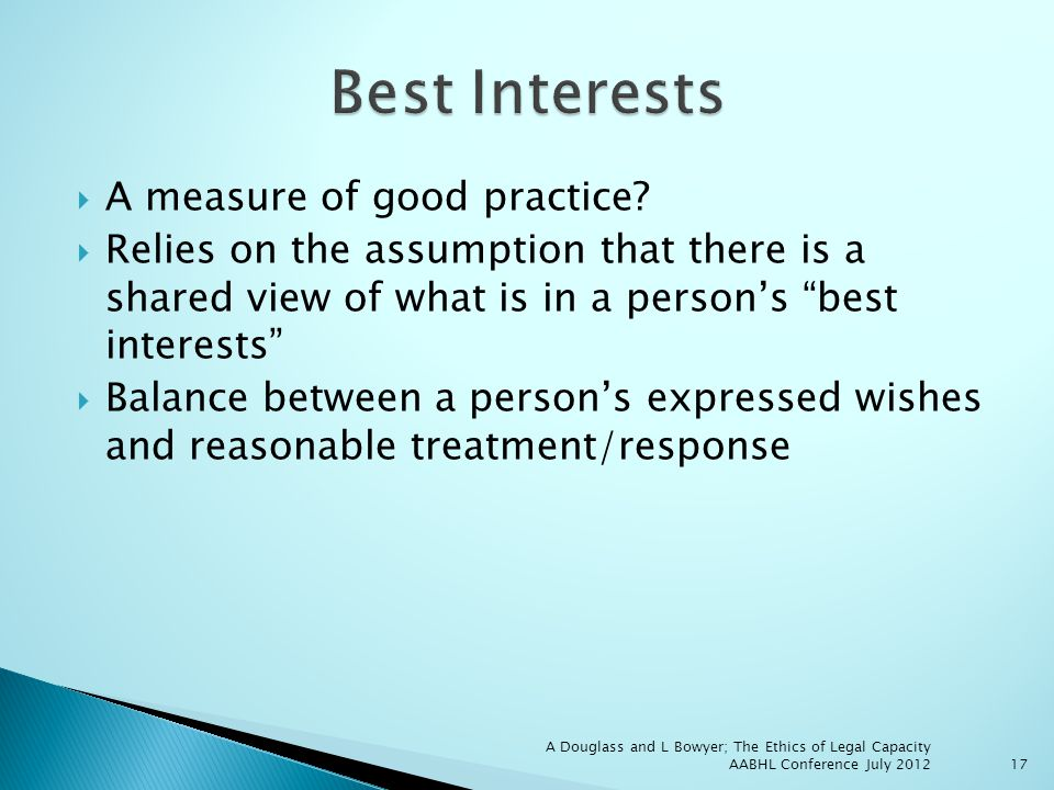 A measure of good practice.
