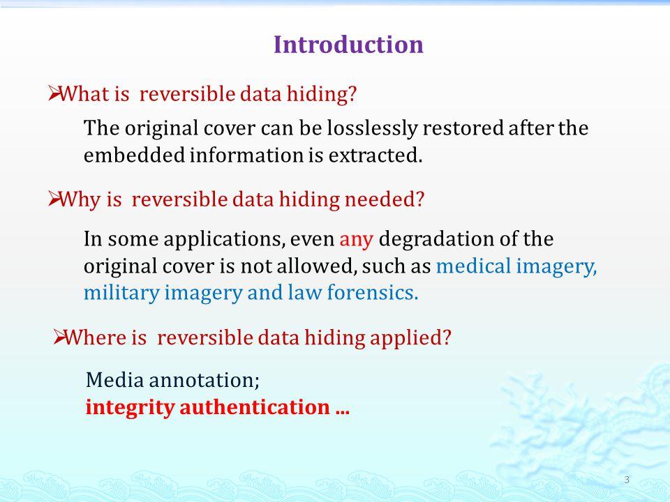 How to do reversible data hiding.