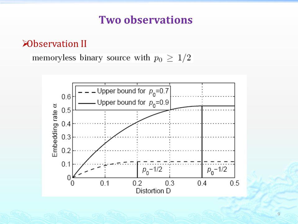 9 Observation II