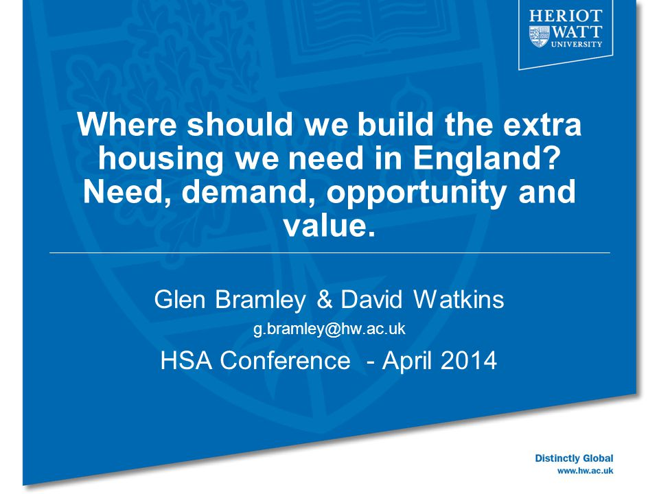 Where should we build the extra housing we need in England.