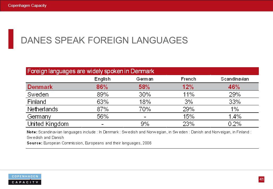 Copenhagen Capacity 41 DANES SPEAK FOREIGN LANGUAGES