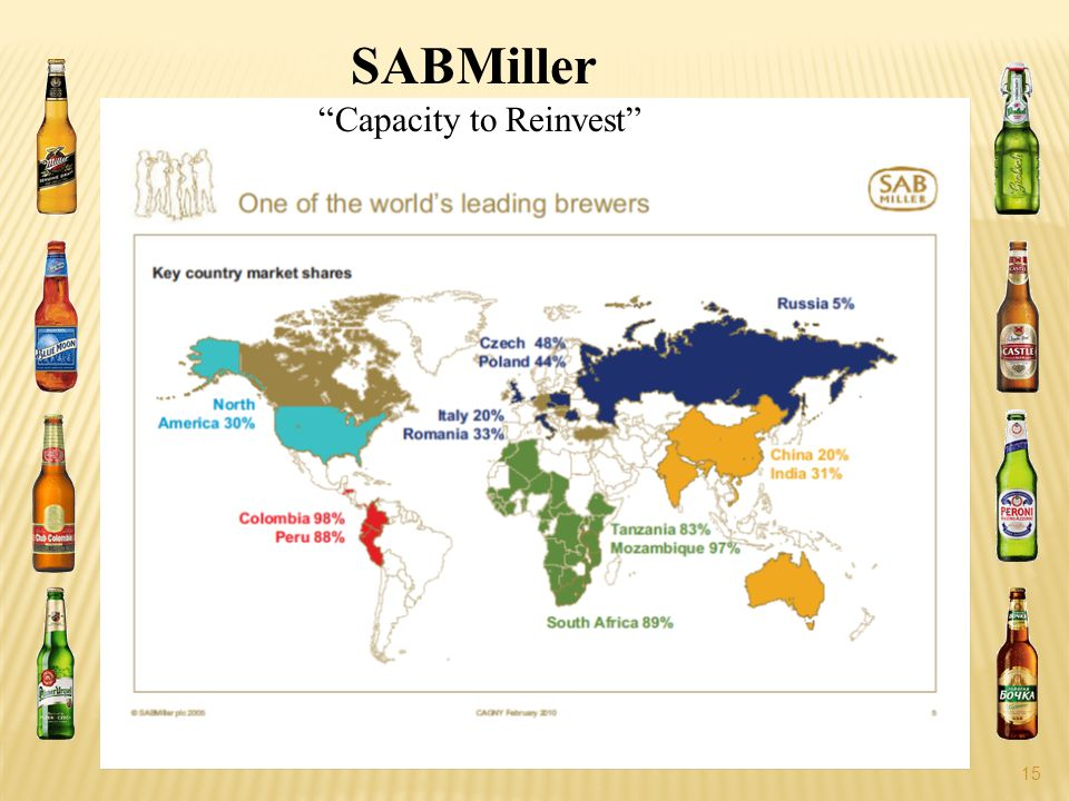 15 SABMiller Capacity to Reinvest