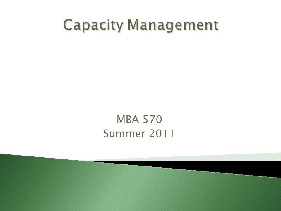 MBA 570 Summer 2011