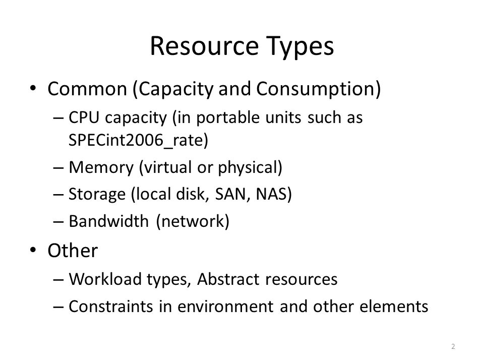 Typical Use Case Typical use case – Specify the resources, capabilities and their characteristics to (re)deploy a service in a cloud environment (see supplemental section) Can be effectively expressed using proposed requirements/capabilities framework Resources of a Service – Sum of all included elements in that service (per resource type) 3